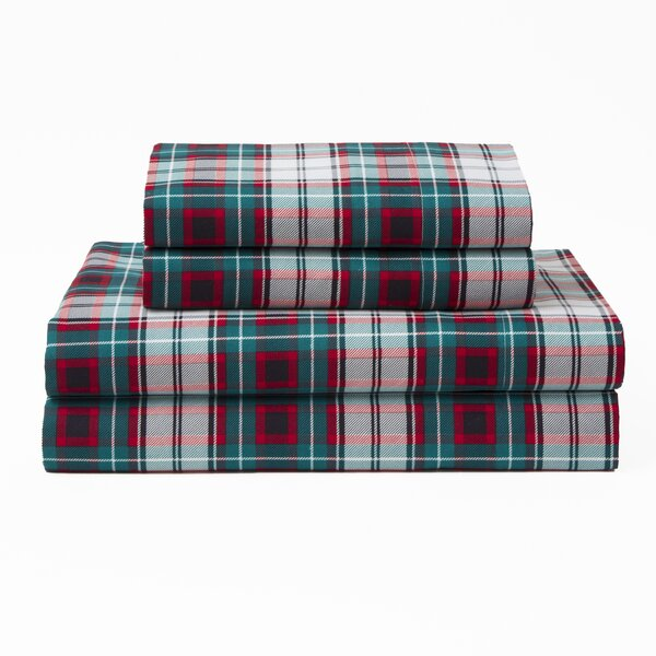 Mischlich Xmas Plaid Polyester Sheet Set by Gracie Oaks