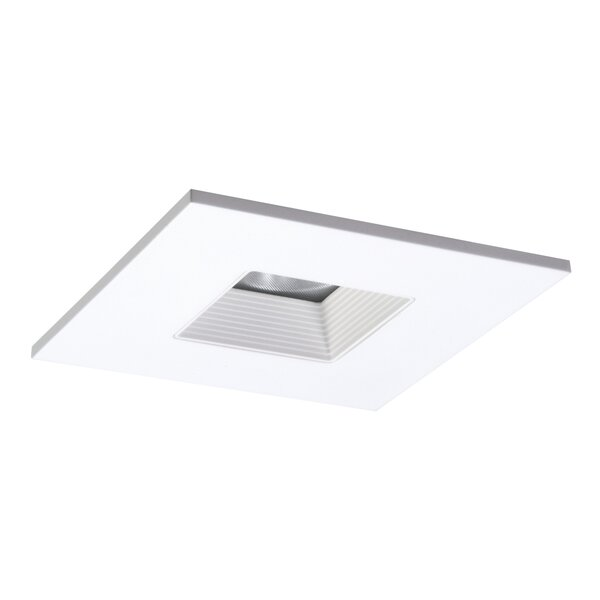 Solite Lensed Square 4 Stepped Baffle Recessed Trim by Halo