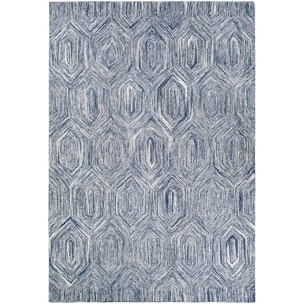 Crabill Hand-Woven Blue/Gray Area Rug by Wrought Studio
