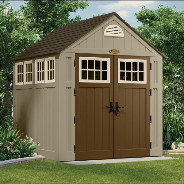 Alpine 7 ft. 5 in. W x 7 ft. D Plastic Storage Shed by Suncast
