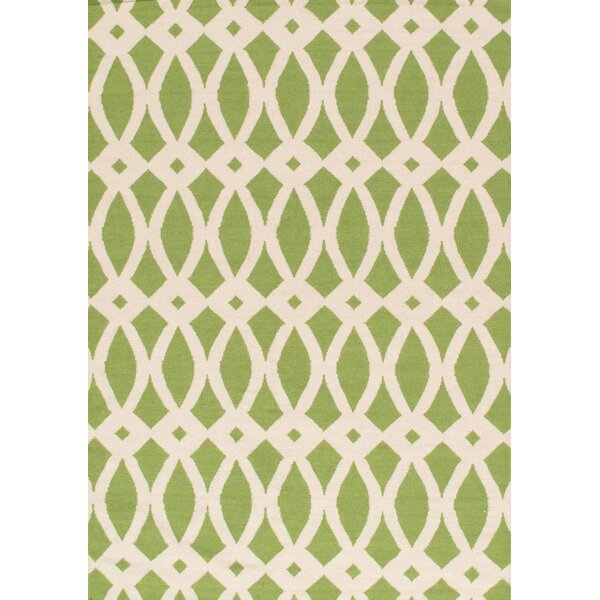Sahara Ivory/Green Area Rug by Pasargad
