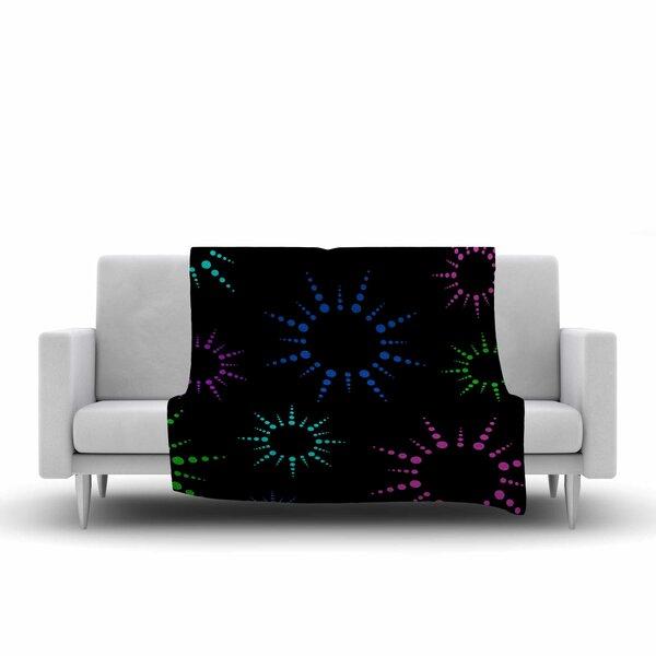 Fireworks Fleece Throw Blanket by East Urban Home