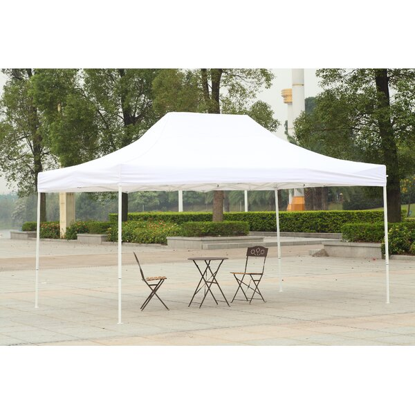 10 Ft. W x 15 Ft. D Steel Pop-Up Canopy by America