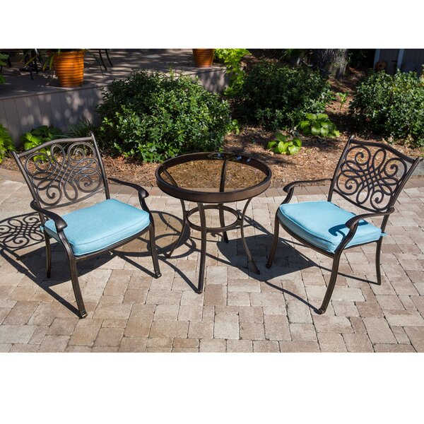 Barrowman 3 Piece Bistro Set with Cushions by Darby Home Co
