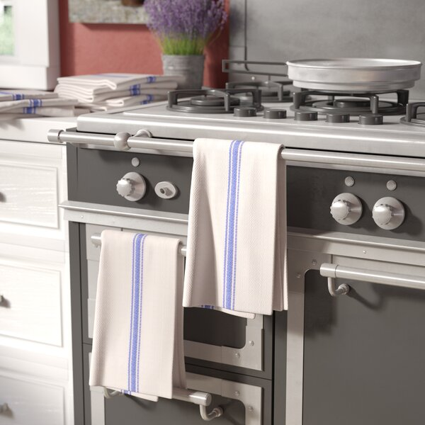 12 Piece Herringbone Pattern Kitchen Dish Towels Set by Laurel Foundry Modern Farmhouse