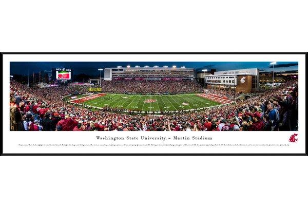NCAA Washington State Football 50 Yard Line Framed Photographic Print by Blakeway Worldwide Panoramas, Inc