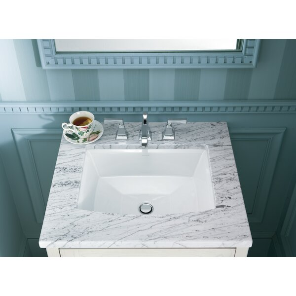 Archer Ceramic Rectangular Undermount Bathroom Sink with Overflow by Kohler