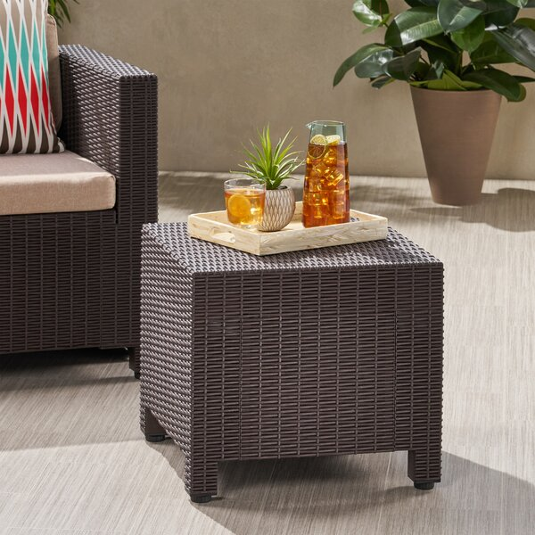 Wicker Side Table by Breakwater Bay