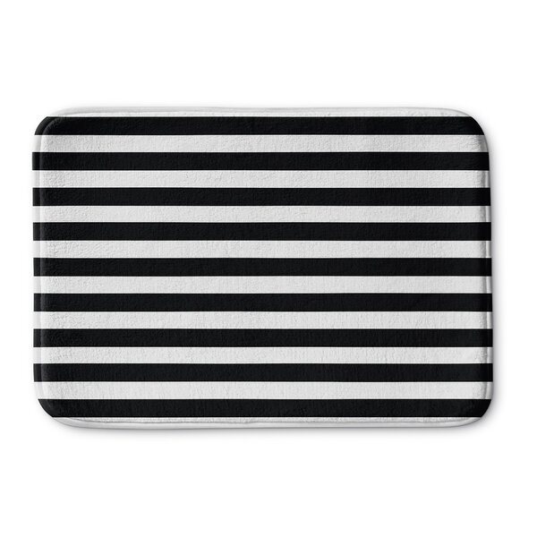 Beeston Stripes Memory Foam Bath Rug