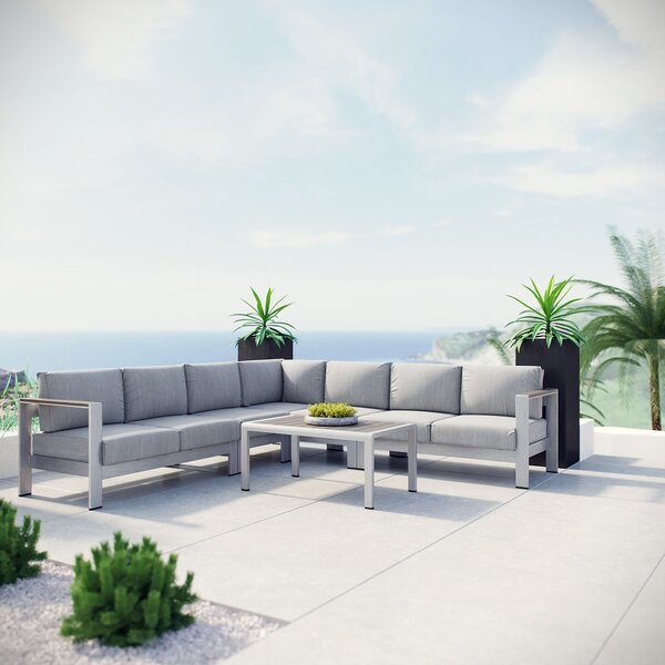 Coline 6 Piece Sectional Seating with Cushions by Orren Ellis