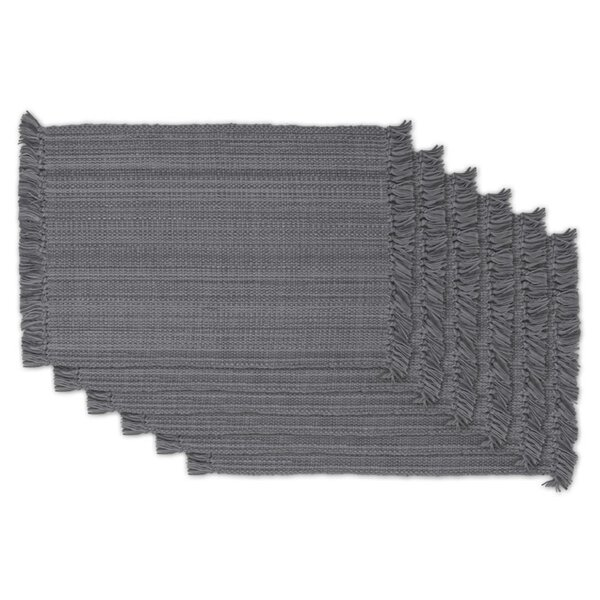 Fringe Variegated Placemat (Set of 6) by Design Imports