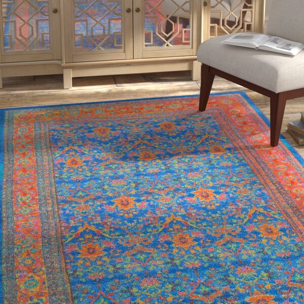 Durgin Blue Area Rug by Bloomsbury Market