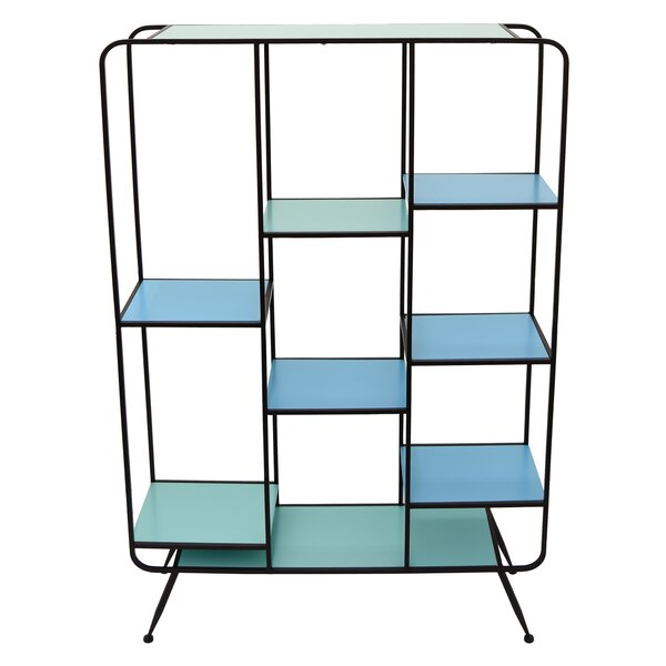 Cushing Wood and Metal Etagere Bookcase by Brayden Studio