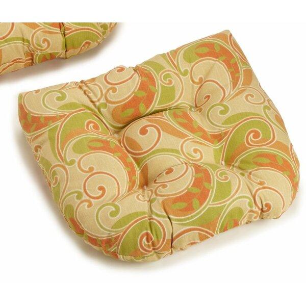 Indoor/Outdoor Wicker Rocker Cushion by Blazing Needles
