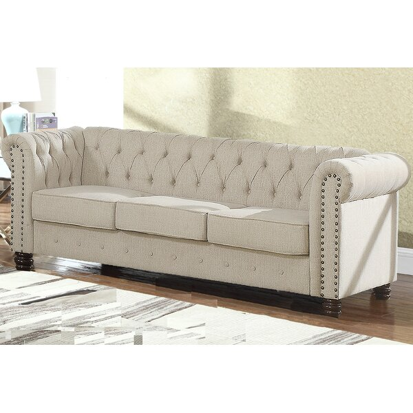 Bowley Nailhead Living Room Chesterfield Sofa by Alcott Hill