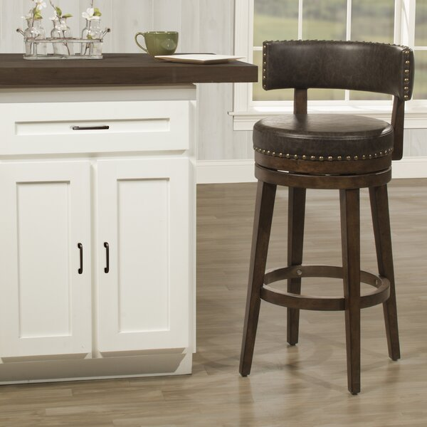 Malachy Swivel Bar Stool by Millwood Pines