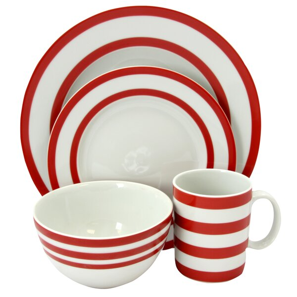 Kellner Bistro Edge 16 Piece Dinnerware Set, Service for 4 by Breakwater Bay