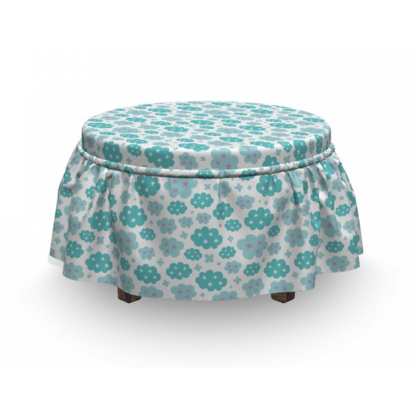 Abstract Cloud Ottoman Slipcover (Set Of 2) By East Urban Home