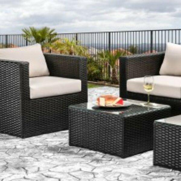 Anadarko Patio Sofa with Cushions by Brayden Studio