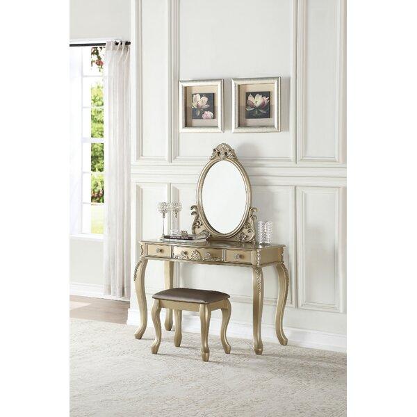 Braedon Vanity Set with Mirror by Rosdorf Park