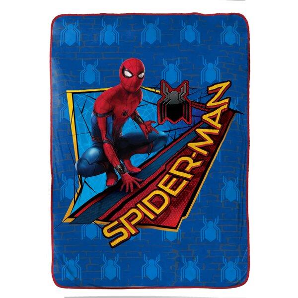 Marvel Spiderman Wall Crawler Plush Twin Blanket by Shopkins