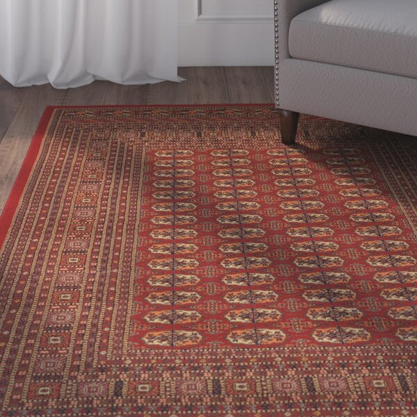 Borgen Premium Wool Red Area Rug by Charlton Home