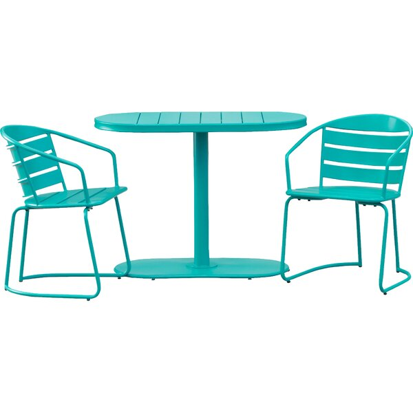 Gunner Swell Outdoor Crackle 3 Piece Bistro Set by Hashtag Home
