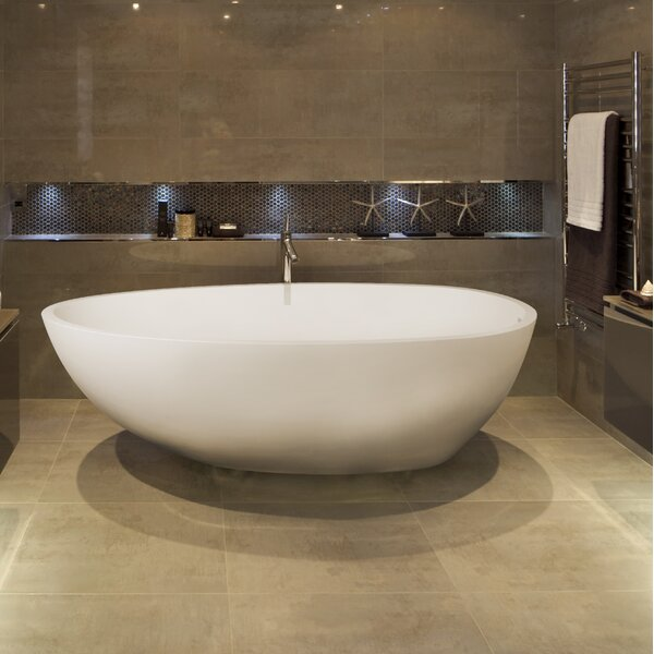 Irideon 71.25 x 38.5 Freestanding Soaking Bathtub by Clarke Products