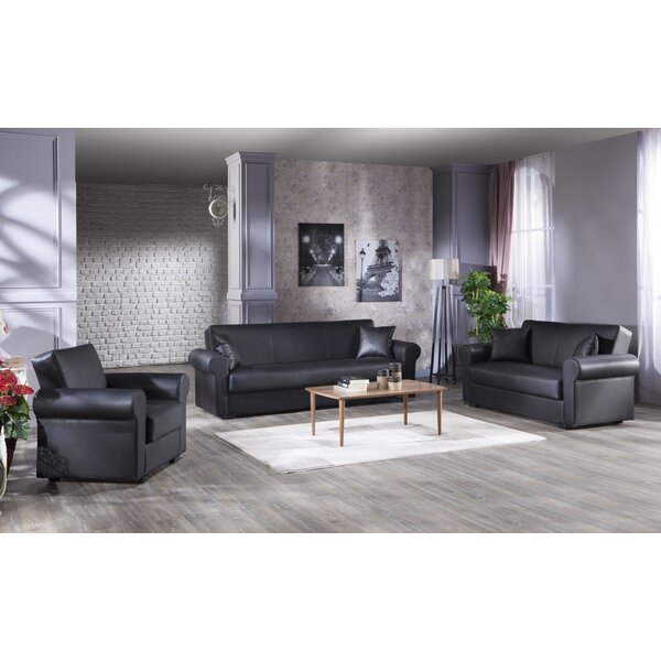 Floris Relax 3 Piece Living Room Set by Red Barrel Studio