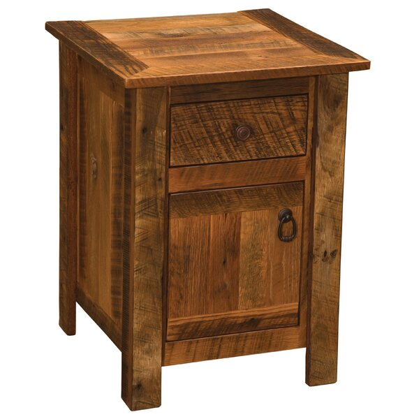 Barnwood 1 Drawer Nightstand by Fireside Lodge