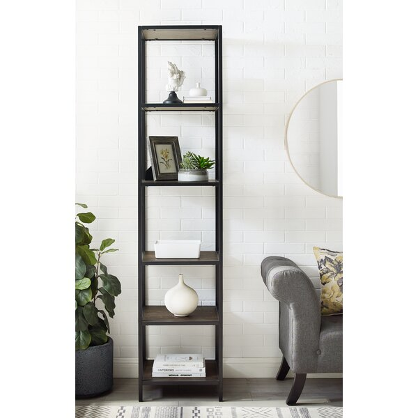 17 Stories Whitted 80 5 H X 18 W Steel Etagere Bookcase Reviews Wayfair