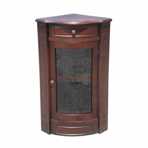 Esquivel Corner Glass Accent Cabinet by Charlton Home