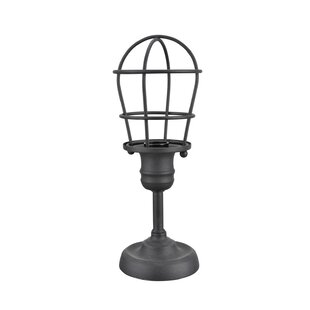 Wire cage table lamp wayfair kiyoko wire cage metal 115 table lamp greentooth Gallery