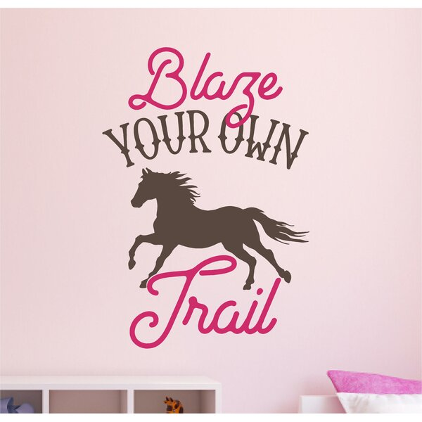 Artemis Blaze Your Own Trail Horse Vinyl Wall Decal by Zoomie Kids