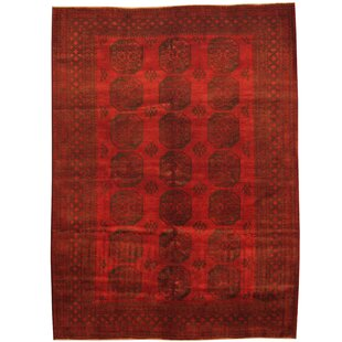 Best Reviews Tribal Turkoman Hand-Knotted  Red/Black Area Rug ByHerat Oriental
