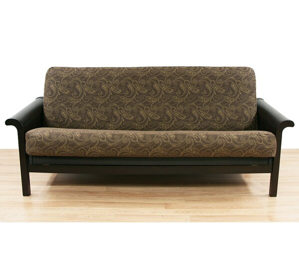 Paisley Box Cushion Futon Slipcover by Easy Fit