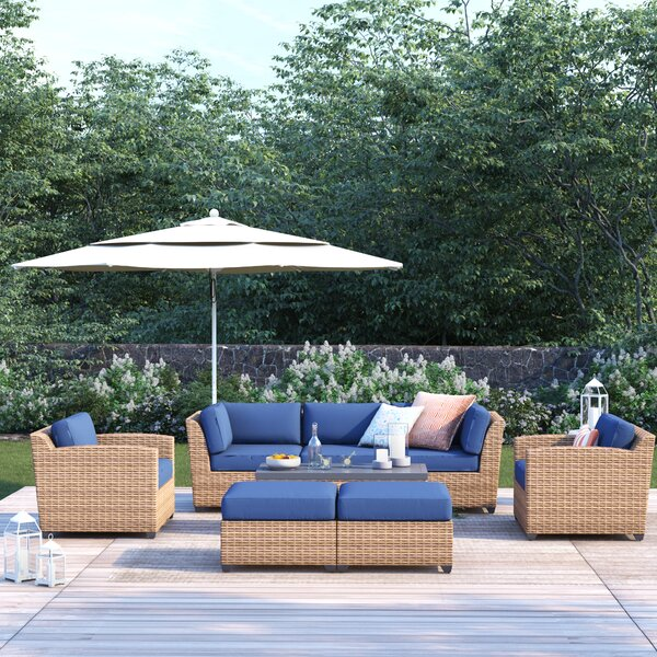 Waterbury 8 Piece Rattan Sofa Seating Group with Cushions by Sol 72 Outdoor