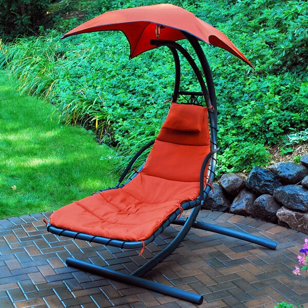 Emilia 9 Hanging Chaise Lounger with Stand by Latitude Run