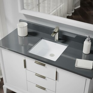 Best Price Vitreous China Rectangular Undermount Bathroom Sink with Overflow By René By Elkay