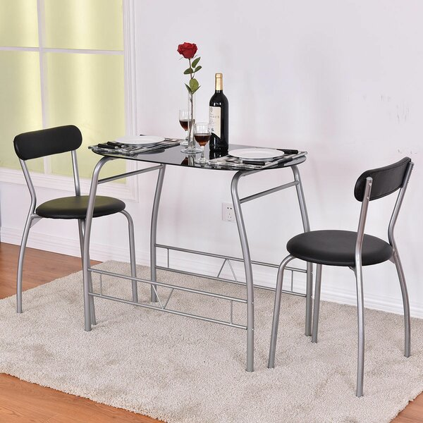 Magdalena 3 Piece Dining Set by Ebern Designs