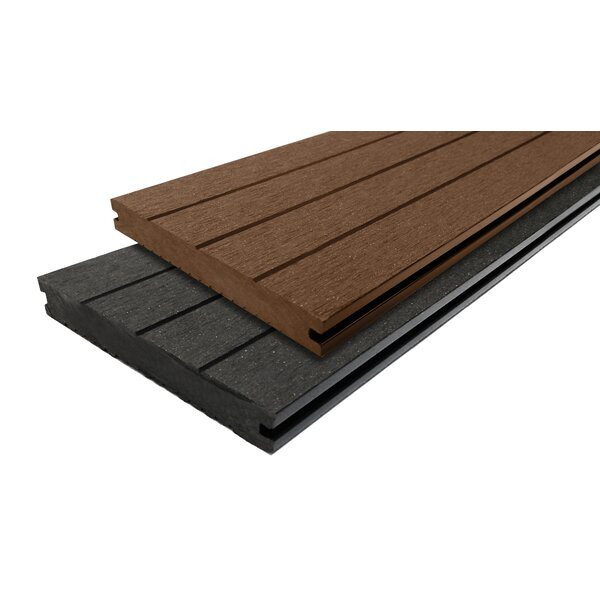 144 x 6 Composite Interlocking Deck Plank in Mocha