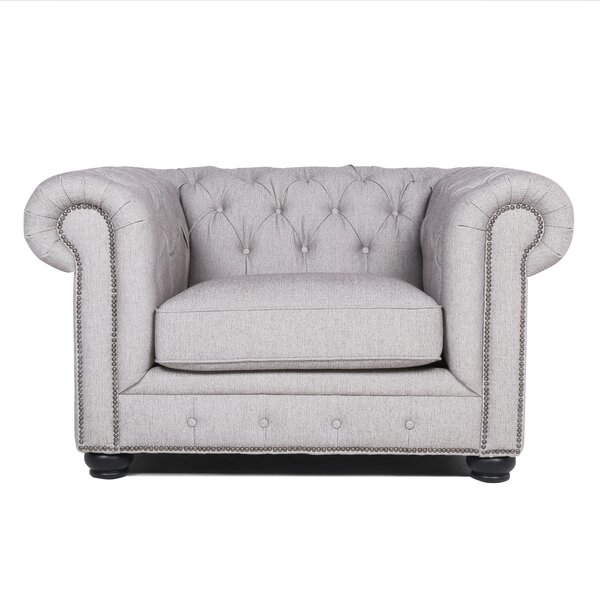 Brooklet Chesterfield Chair by Three Posts