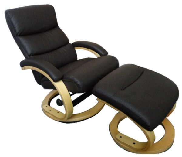 Verona Manual Swivel Recliner with Ottoman by Therapedic