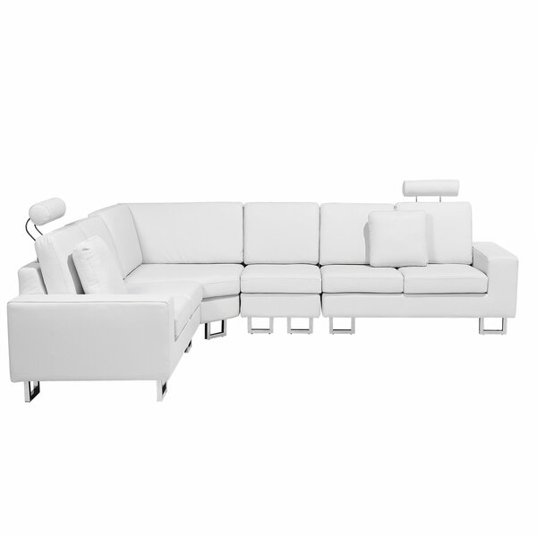 Valetta Leather Reversible Modular Sectional by Orren Ellis
