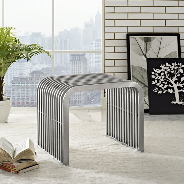 Pipe Metal Bench by Modway