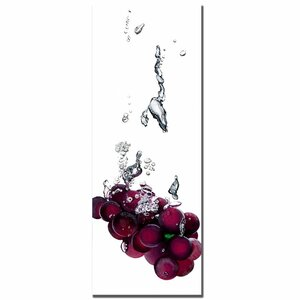 'Grapes Splash II' by Roderick Stevens Photographic Print on Wrapped Canvas by Trademark Fine Art