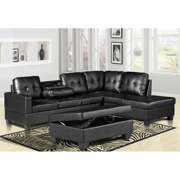 Haskett Reversible Sectional with Ottoman by Latitude Run