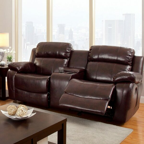Hawkes Transitional Leather Sofa by Red Barrel Studio