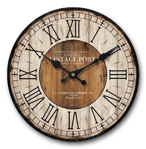 Phineas Vintage Port 13 Wall Clock by Gracie Oaks
