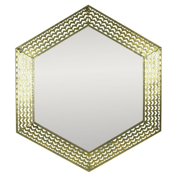 Crossman Hypnotic Hexagonal Metal Accent Mirror by World Menagerie